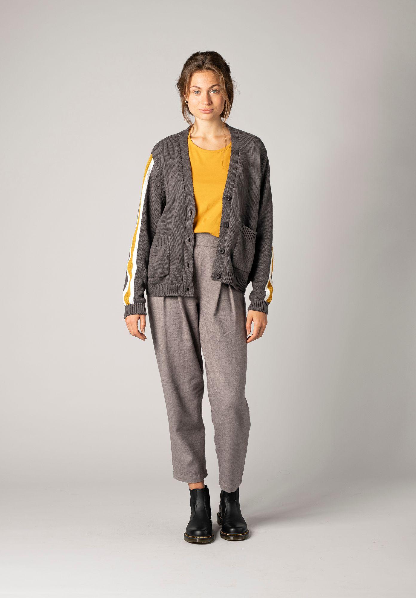TT3006 Short Cardigan Dark Grey