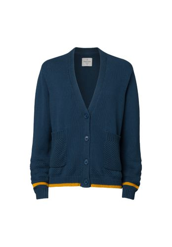 ThokkThokk Women Cardigan Blue Organic Fair