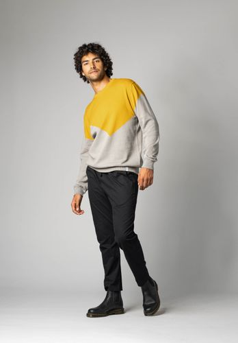 ThokkThokk Men Pullover Yellow Grey Organic Fair
