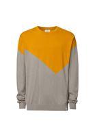 Bild 2 - TT3002 Pullover Man Golden Yellow/Silver GOTS & Fair