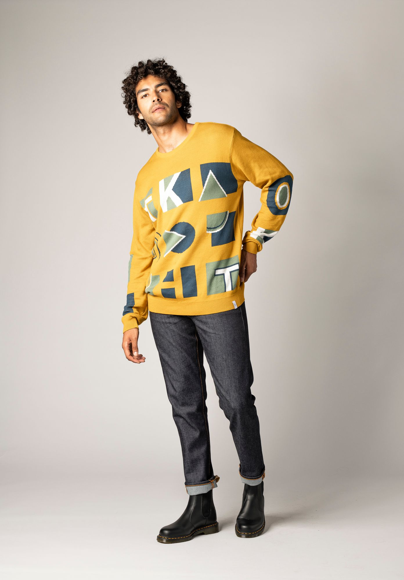 TT3002 Pullover Geometry GOTS & Fair