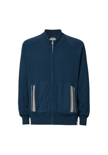 ThokkThokk Men Cardigan Blue Organic Fair
