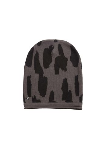 ThokkThokk Women Beanie Dots Dark Grey Black Organic Fair