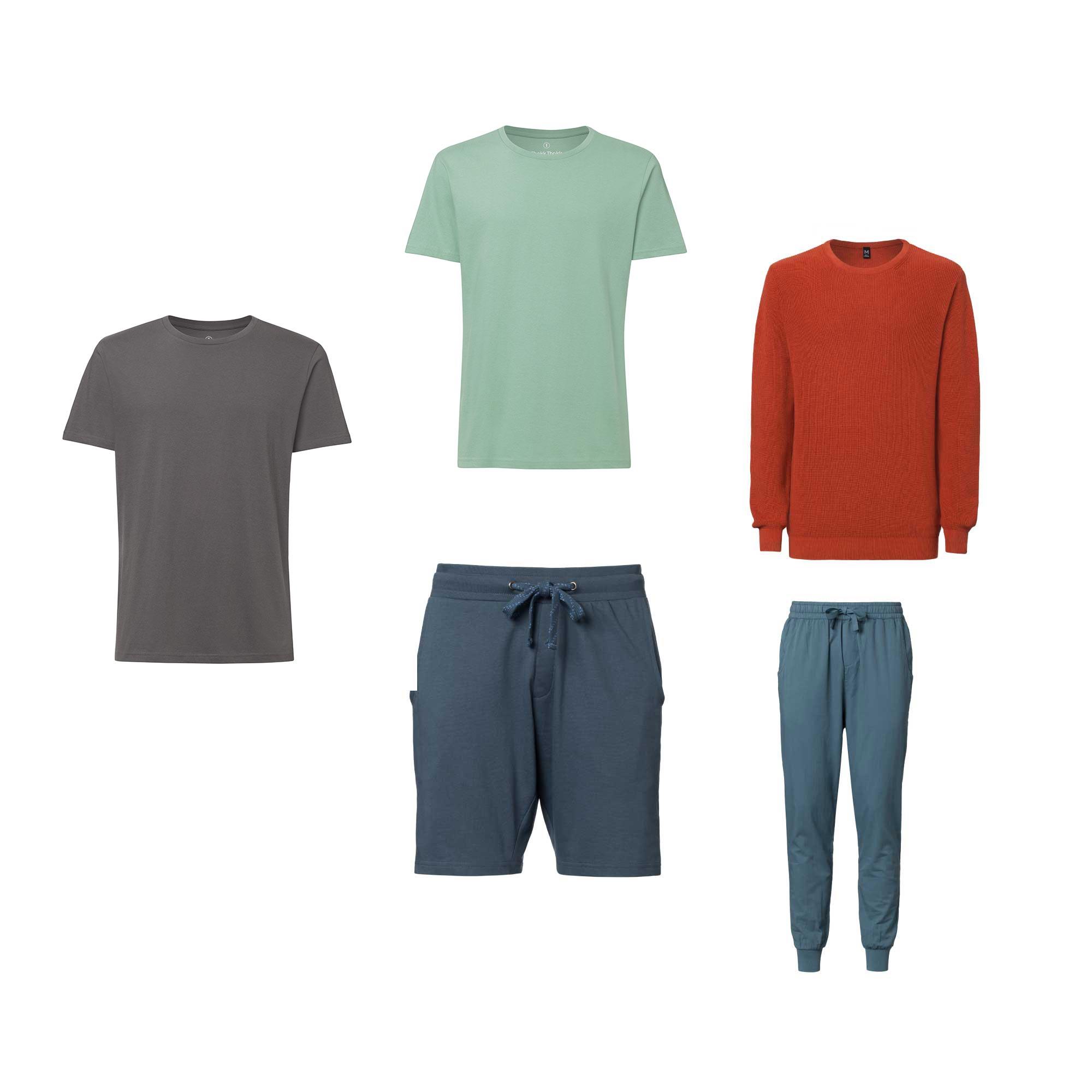 5er Pack TT65 T-Shirt Tangerine // Magic TT02 T-Shirt // TT3002 Pullover Man Tangerine // TT1020 Shorts Man Thundercloud // TT38 Summer Pants Man Thundercloud