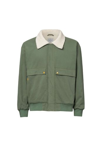 ThokkThokk Women Men Canvas Jacket Teddy Green Organic Fair