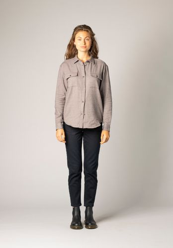 ThokkThokk Women Shirt Flannel Grey Organic Fair