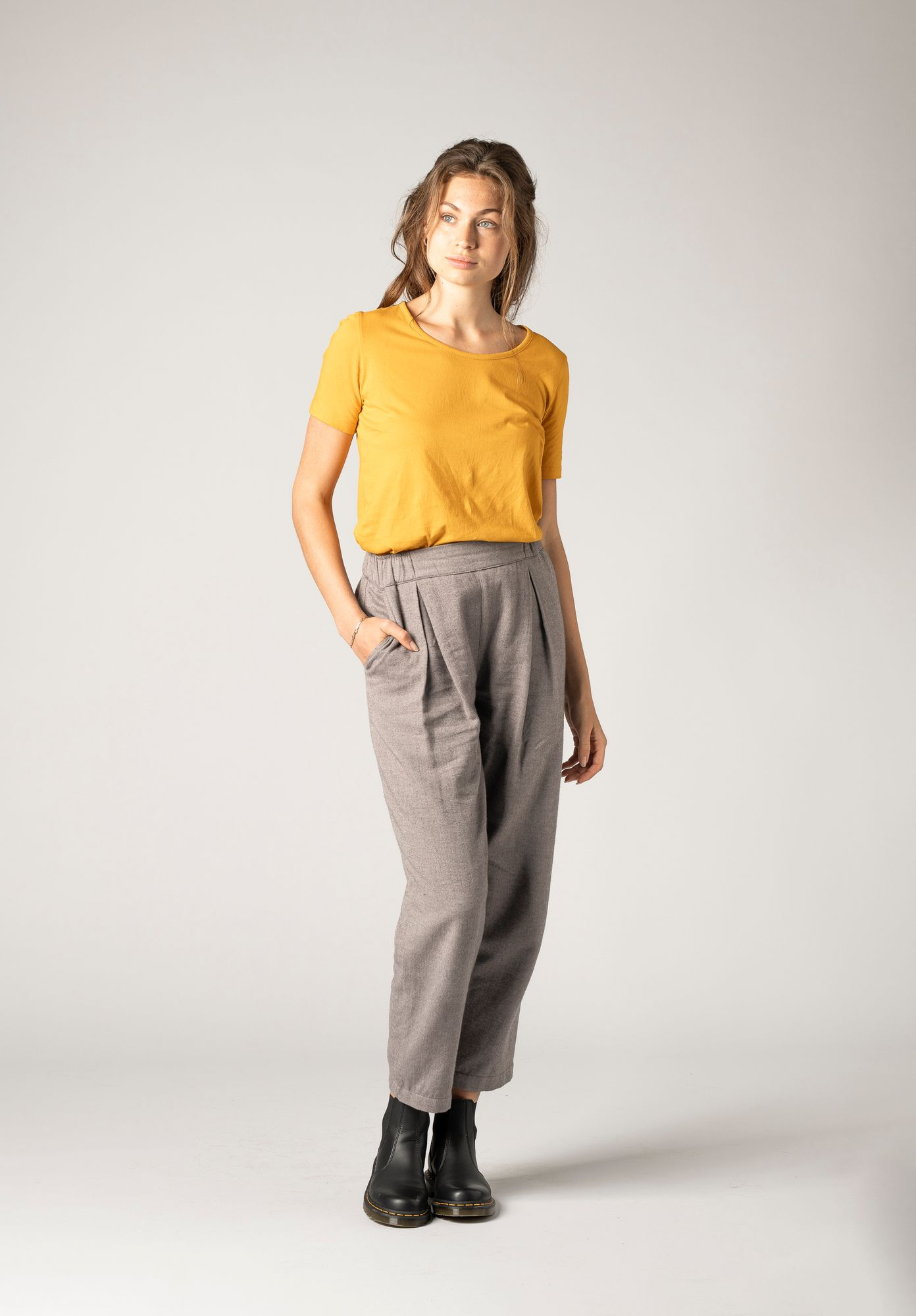 TT66 Pleat Pants Herringbone