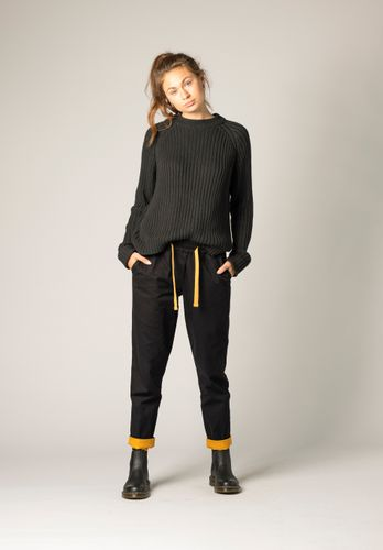 ThokkThokk Women Pants Yellow Black Organic Fair