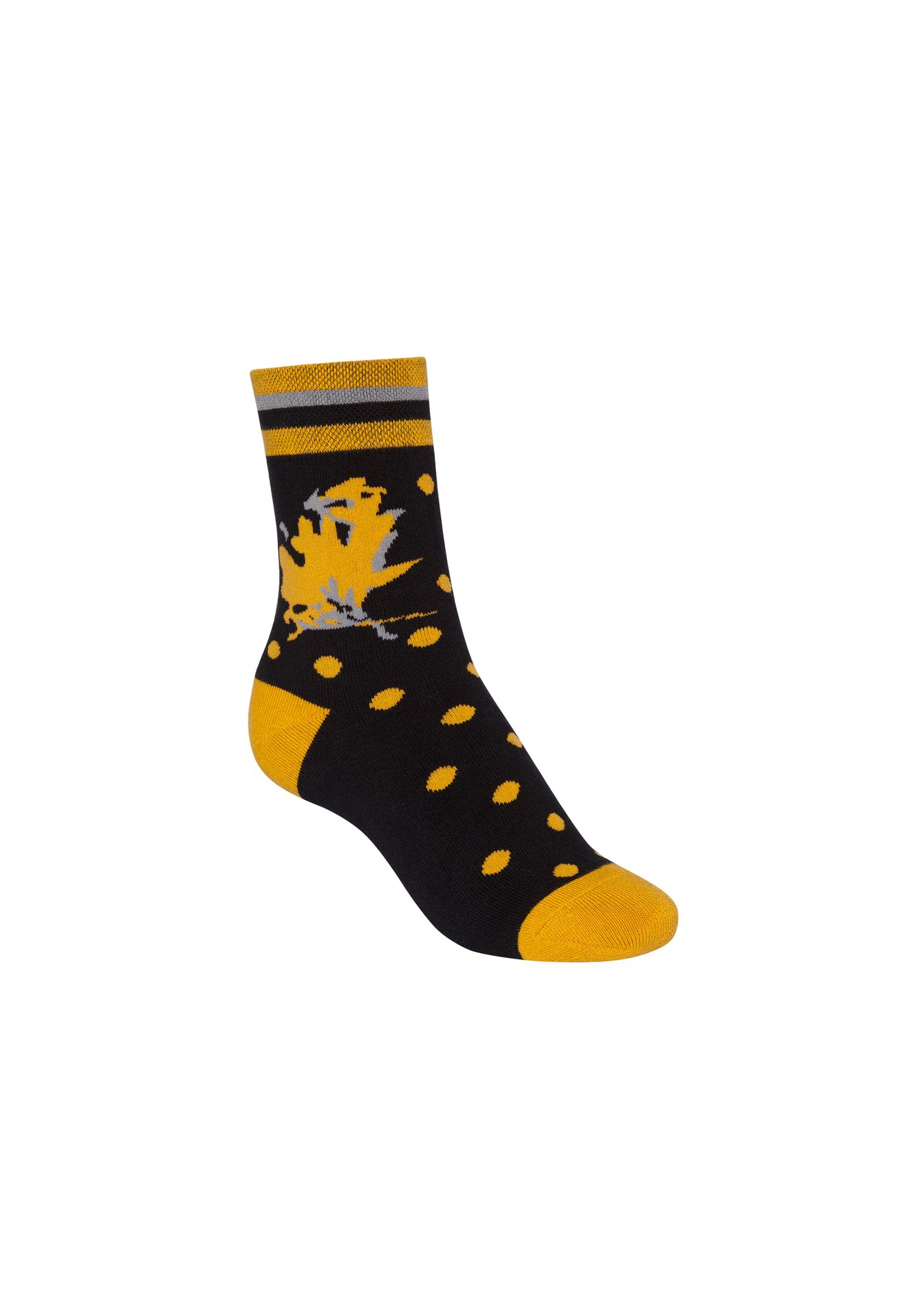 Indian Summer Terry Mid Socks Black