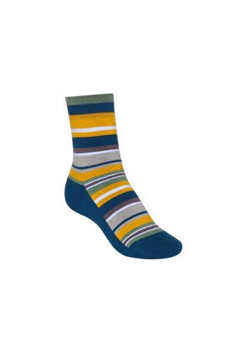 ThokkThokk Socken Terry Mittelhoch Stripes Blau Bio Fair