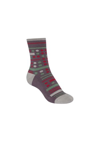 ThokkThokk Socks Terry Mid Geometric Mix Grey Organic Fair