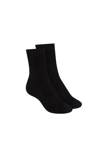 ThokkThokk Socks Terry Mid Black 2 Pack Organic Fair