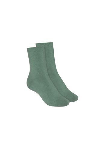 ThokkThokk Socks Terry Mid Green 2 Pack Organic Fair