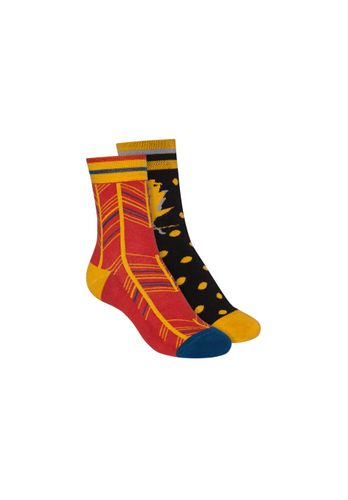 ThokkThokk Socks Terry Mid Black Red 2 Pack Organic Fair