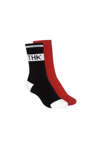 ThokkThokk Socks Terry High Red Black 2 Pack Organic Fair