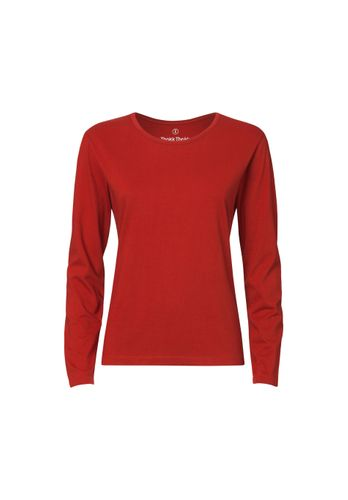 ThokkThokk Women Longsleeve Red Organic Fair