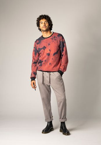 ThokkThokk Men Sweater Rusty Red Organic Fair