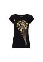 Cap Sleeve Balloons Girl Black