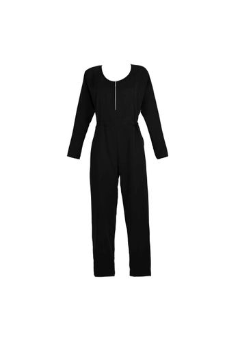 LOVJOI Women Jumpsuit MOONWORT Black Sustainable Fair