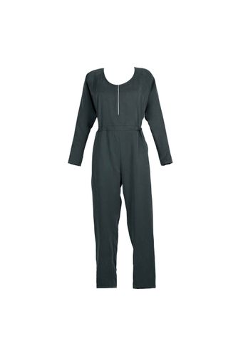 LOVJOI Women Jumpsuit MOONWORT Dark Green Sustainable Fair