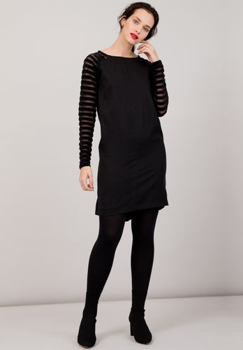 LOVJOI Women Dress STARWORT Black Sustainable Fair