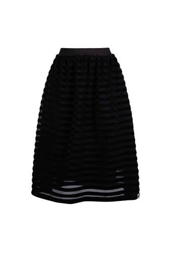 LOVJOI Women Skirt WATERLILY Black Organic Fair