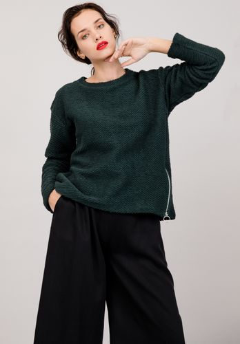 LOVJOI Women Sweater THUJA Dark Green Organic Fair