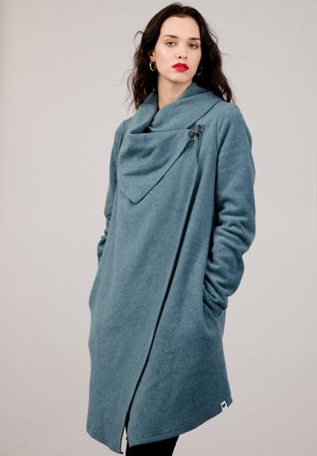 LOVJOI Women Coat LAMBORG Light Blue Organic Fair