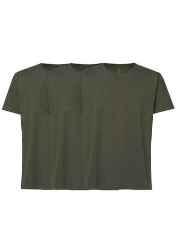 ThokkThokk Herren T-Shirt 3er Olivgrün Pack Bio Fair