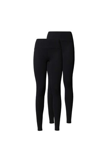ThokkThokk Damen Leggings Bio Fair 2er Pack Schwarz