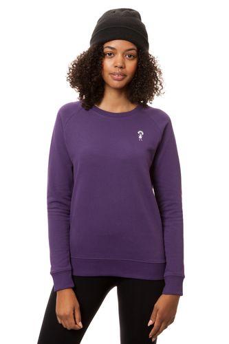 FellHerz Damen Sweatshirt Logopulli Violett Bio Fair
