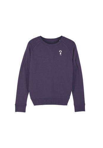 FellHerz Women Sweatshirt Logo Purple Organic Fair
