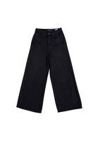 Bild 2 - Wide Cropped Jeans BARLERIA Black Overdyed