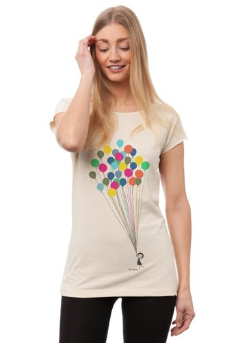 FellHerz Women T-Shirt Balloons Girl Organic Fair