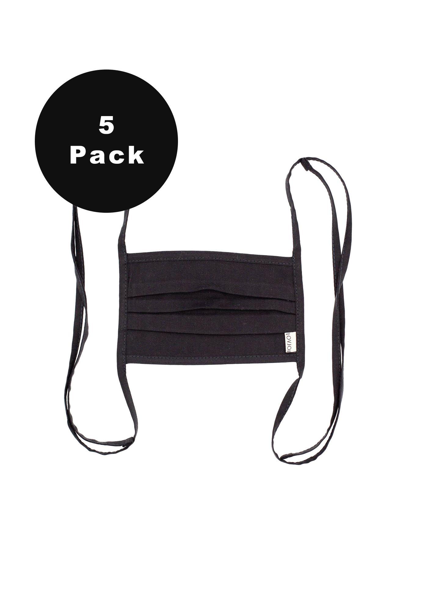 5er Pack Behelfsmundschutz SALUTA Black