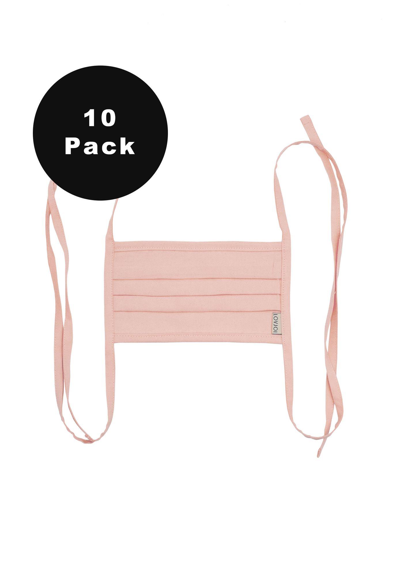 10er Pack Behelfsmundschutz SALUTA Blush