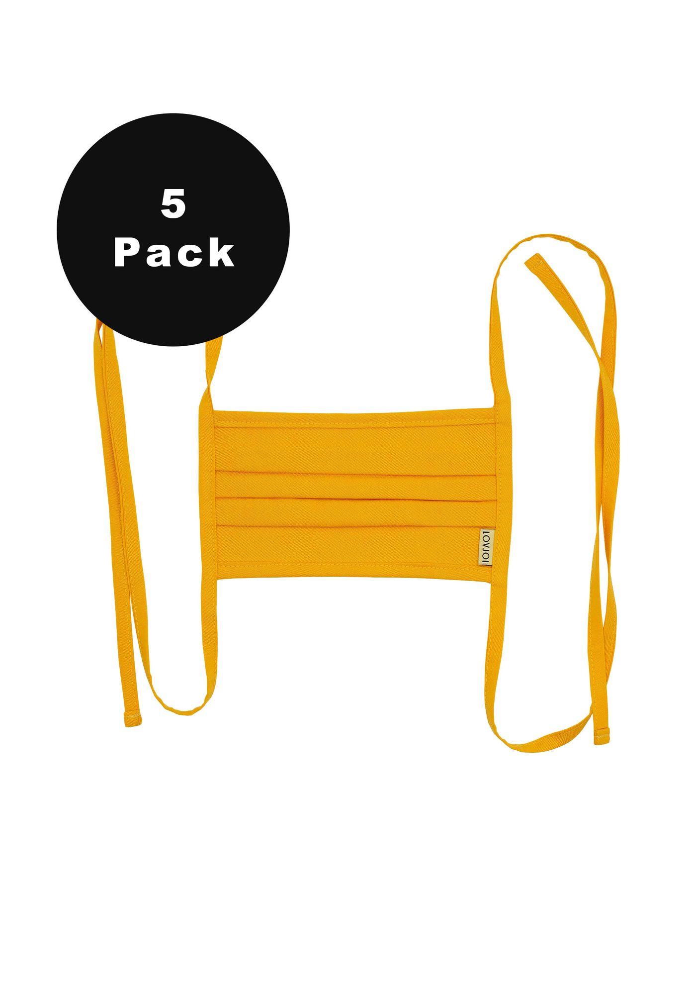 5er Pack Behelfsmundschutz SALUTA Safron