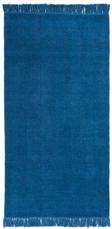 """Chenilleteppich """"Aoko"""" blau – Bild 2"""