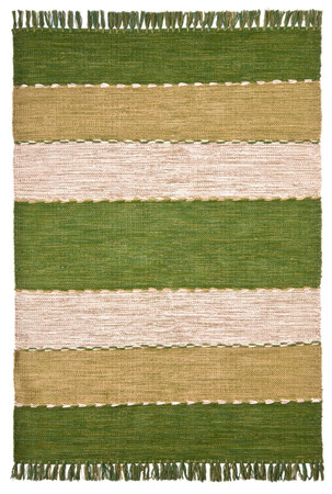 """Handwebteppich """"Eden"""" grün – Bild 2"""