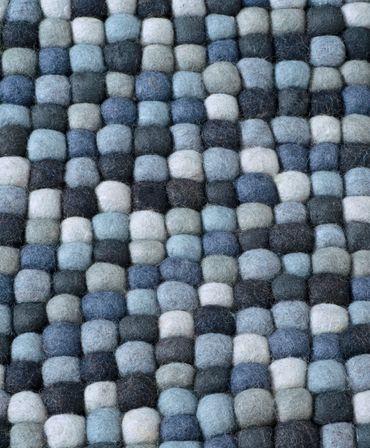 "Schurwollteppich ""Maja"" multi-blau – Bild 4"