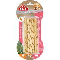 8in1 Delights Pork Twisted Sticks 10 Stück