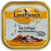 LandFleisch Cat Schlemmertopf Geflügel & Entenherz mit Frischgemüse 100 g