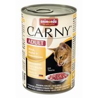 Animonda Cat Dose Carny Adult Rind & Huhn & Entenherzen 400g