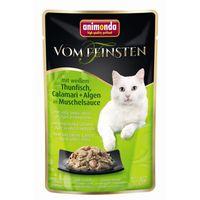 Animonda Cat Portionsbeutel vom Feinsten mit Hühnchenfilet & Thunfisch, Calamari + Algen in Mu  50g