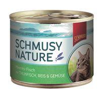 Schmusy Nature Meeres-Fisch Thun, Reis & Gemüse 185g Dose