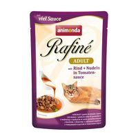 Animonda Cat Portionsbeutel Rafine Rind + Nudeln in Tomatensauce 100g