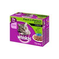 Whiskas Portionsbeutel Multipack 7+ Fleisch- & Fischauswahl 12x100g
