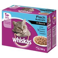 Whiskas Portionsbeutel Multipack 1+ Fischauswahl in Sauce 12x100g