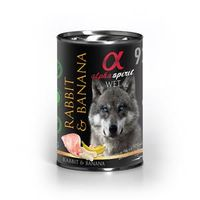 alpha spirit Dog Dose Rabbit with Banana 400g