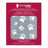 LitterLocker® Fashion Stoff-Bezug Cat paws grey – Bild 1
